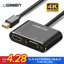 Ugreen Mini DisplayPort к HDMI VGA адаптер Thunderbolt 2 переходник DP кабель для MacBook Air 13 Surface Pro 4 Mini DisplayPort(China)