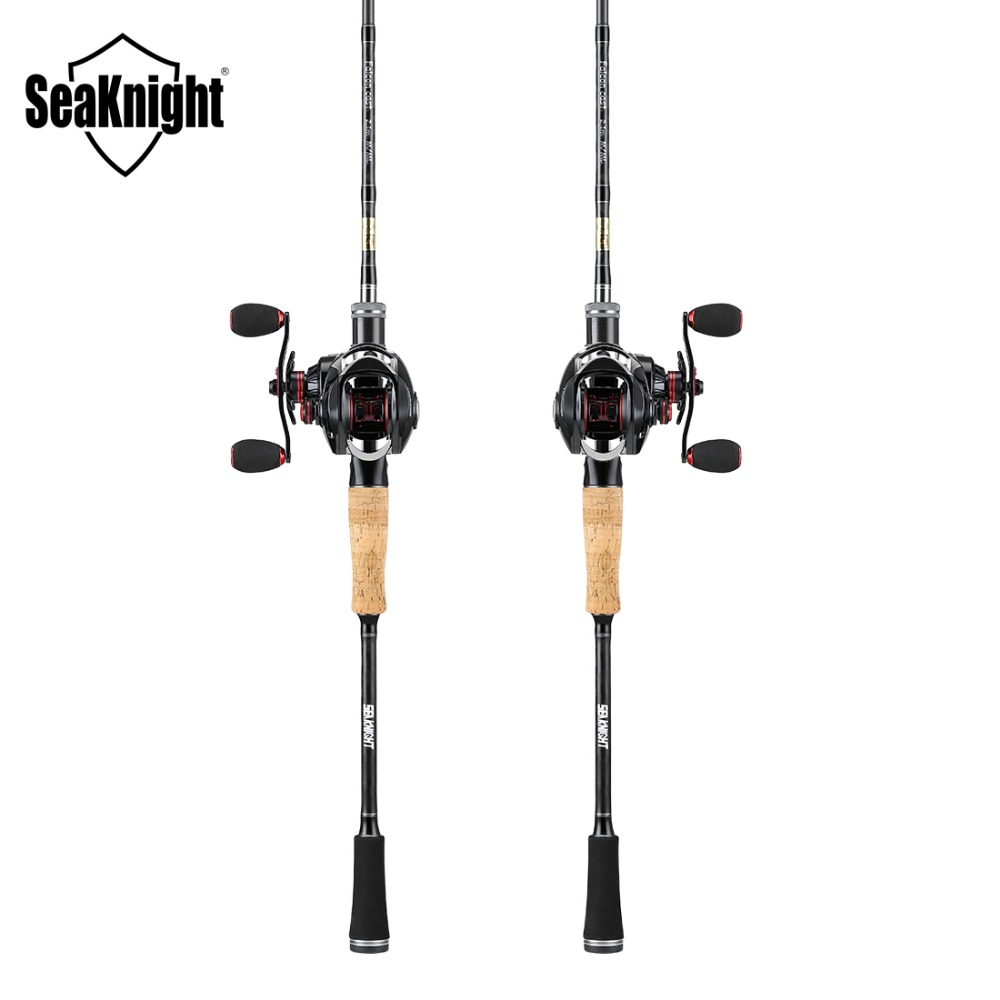 SeaKnight Fishing Rod Reel Combo Falcon 2.1M Casting Rod Carbon M ML VIPER Fishing 7.5 Max Drag 6.3:1 7.0:1 Fishing Tackle nunatak combo bait casting reel viper 11 bb fishing gear lec casting rod 2 1 m 2 4 m fishing rod lure weight 1 4 3 4 o