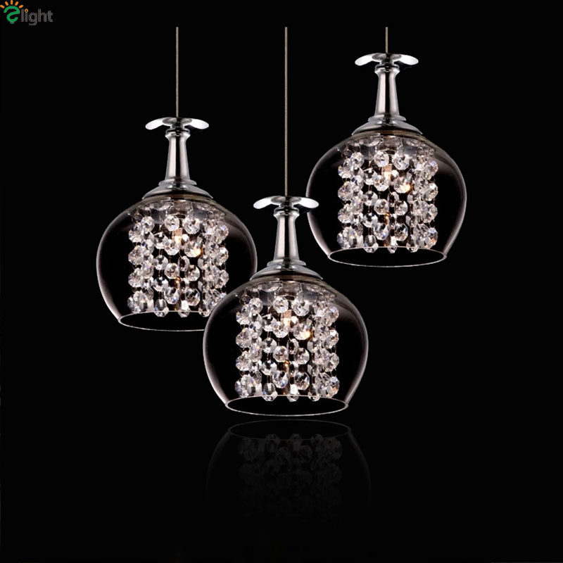 Nordic Simple Glass Goblet Led Pendant Chandelier Lighting Lustre Crystal Dining Room Led Chandeliers Bedroom Led Hanging Lights цены