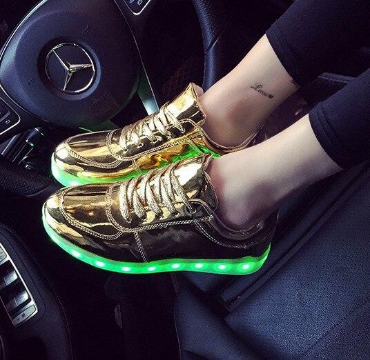 Usb Charging kid Shoes Glowing Sneakers doen met Light up meisjes - Kinderschoenen - Foto 3