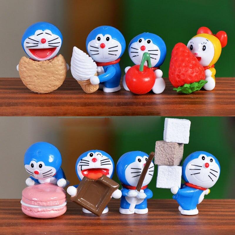 8 шт. Doraemon Пищи Миниатюрный Сказочный Сад Дома Дома Украшения Ремесла Minecraft Микро Озеленение, Декор DIY Аксессуары
