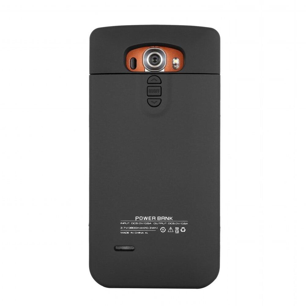 imágenes para Negro Más Nuevo 3800 mAh Estuche cargador para LG G4 Cubierta Banco de la Energía Del Cargador de Batería Externa Recargable para LG G4