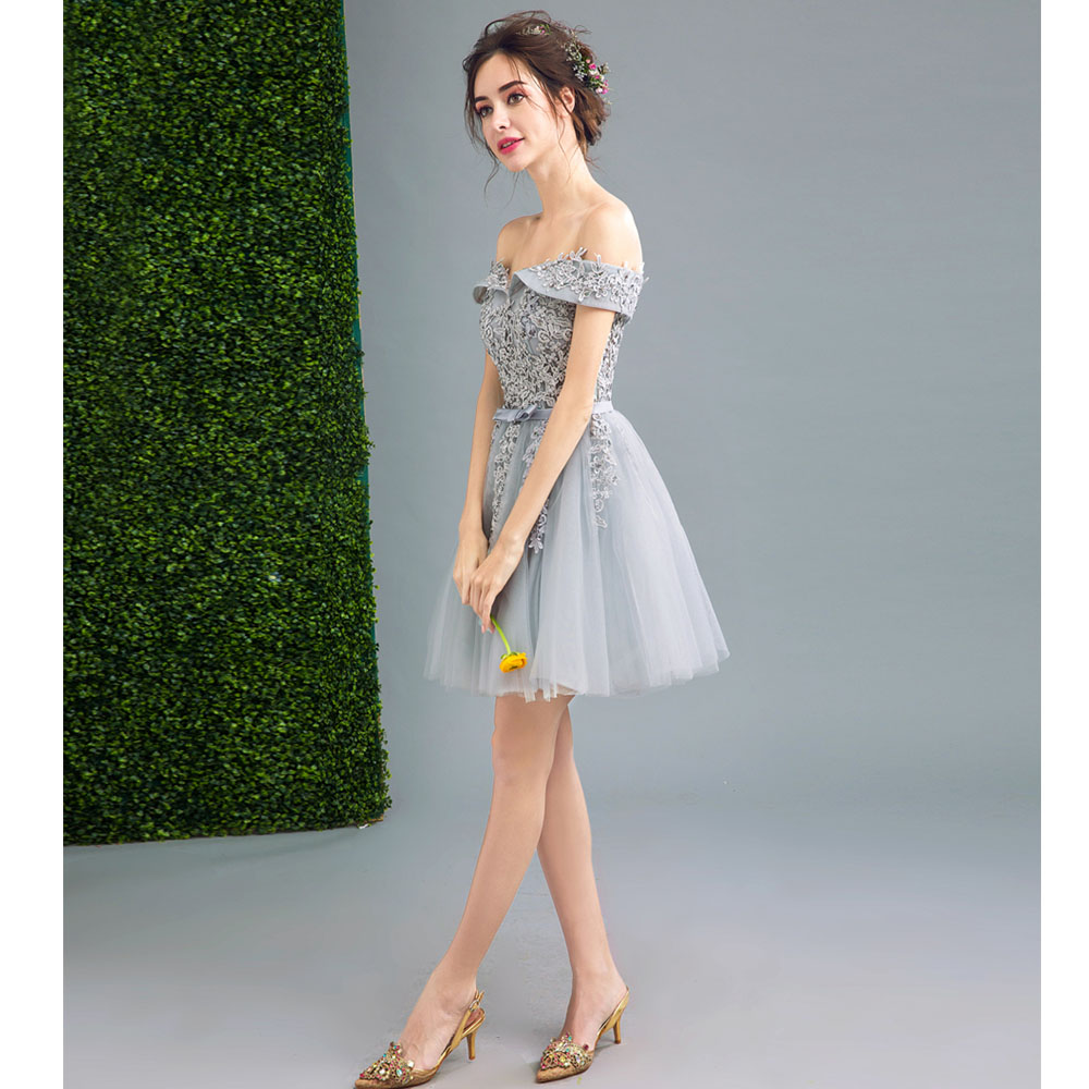 BKMGC Barbie carved lace short prom dress dinner bridal bridesmaid ...