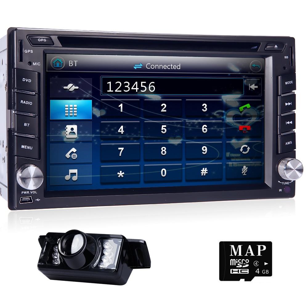 2 din Universal Car Radio Double Car DVD Player GPS Navigation In dash Car Audio Stereo Video Free Map Car multimedia CAM SWC BT все цены