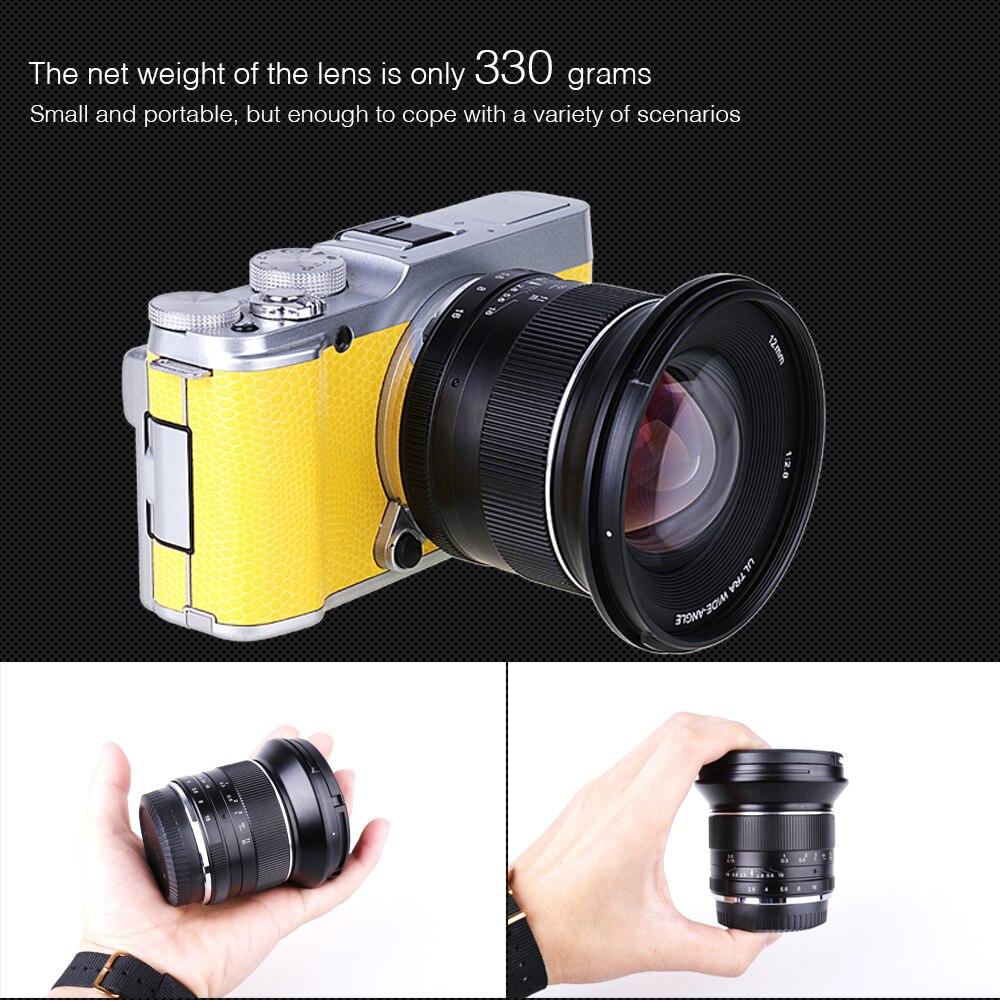 12mm F2.8 Manual Wide Angle Lens para Olympus Panasonic M4/MFT 3 EM5 EM10 GH3 GH4 câmera