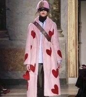 Высокое качество бархатное меховое пальто для женщин парка с натуральным мехом зима abrigo mujer розовая норковая шуба изумительное манто femme hiver