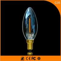 50 шт. E14 светодиодные лампы 1 Вт светодиодные свечи накаливания лампы 360 градусов свет лампы Винтаж подвесные светильники AC220V