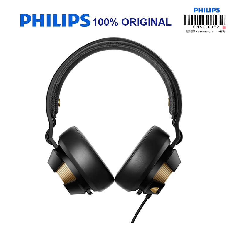 Philips SHX50 Professional Earphones with USB Plug Blue LED Lights Shine Christmas gift for Computer Game Headset Official Test elemax shx 1000