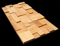 1 Box (5sheet) Vintage wood mosaic tiles home walls decoration material 3D panels wood mosaic tile total Cover 0.9 square meters