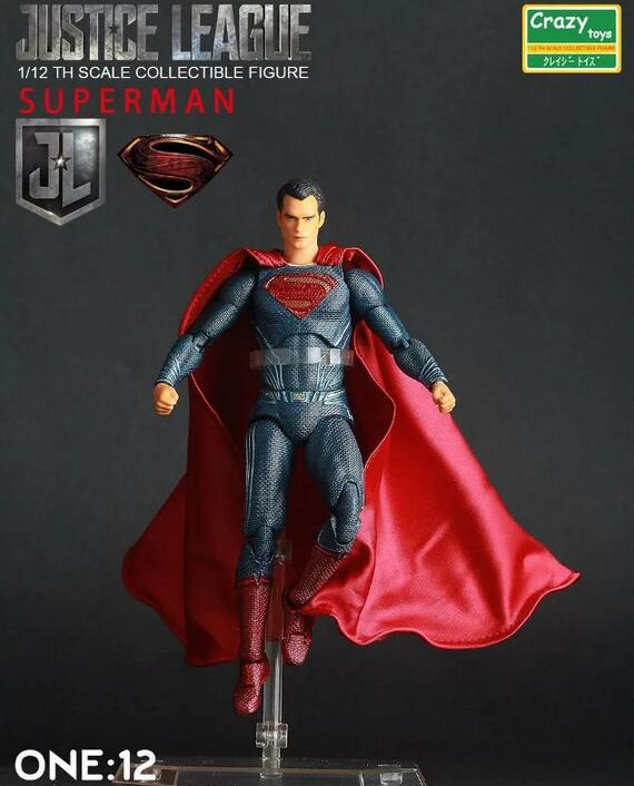 MOIVE Batman v Superman Dawn of Justice Superman PVC Action Figure Collectible Toy 15cm Bracket Is black 266 shfiguarts superman shf figuarts in justice ver pvc action figure collectible model toy