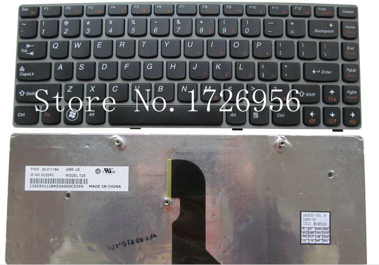 NEW Lenovo IdeaPad Z465 Z450 Z460 Z460A Z460G US Keyboard with Frame