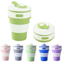 Collapsible Coffee Cup Silicone Folding  Portable Telescopic Drinking  Multifunctional Outdoor Camping Sporting Cup