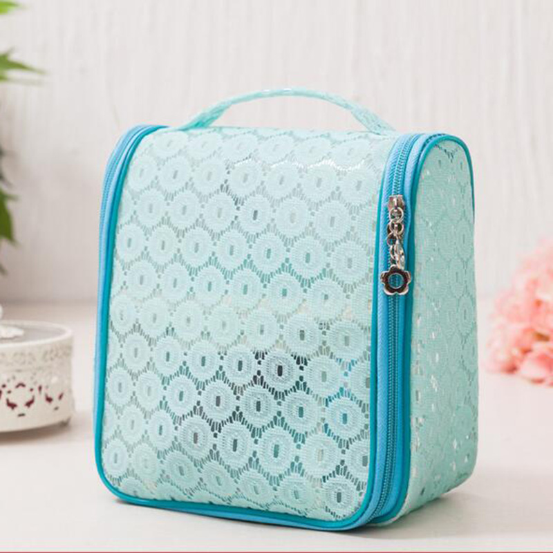 1pcs Large Travel Storage Bag Luggage Makeup Tidy Organizer Pouch Lace Suitcase Handbag Case Red Blue Pink Purple White C25