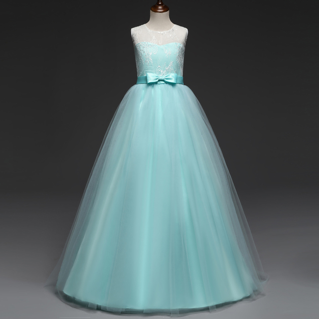 cb460176e4ff Adolescente Vestito Da Festa di Compleanno Per Bambini Abiti da sposa  Elegante Principessa Cerimonia Nuziale di
