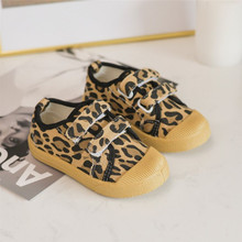 Baby Kids Spring Leopard Canvas Shoes For Boys Fashion Sneakers Girls Non-slip Casual Shoes Children Hook & Loop Shoes cozulma baby girls leopard canvas shoes boys fashion sneakers kids non slip casual shoes children lace up shoes size 21 30