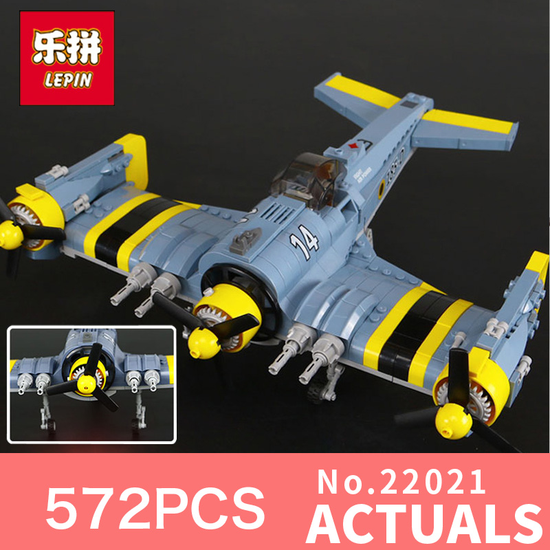 572Pcs Lepin 22021 Technical Series The Science Fiction Fighting Aircraft Set Building Blocks Bricks Toys Model for Holiday Gift black pearl building blocks kaizi ky87010 pirates of the caribbean ship self locking bricks assembling toys 1184pcs set gift