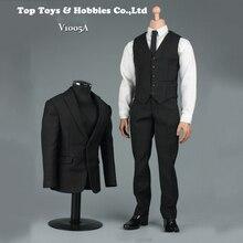 1/6 Black Men Gentleman Suit Clothes Set F/12 Male Action Figure