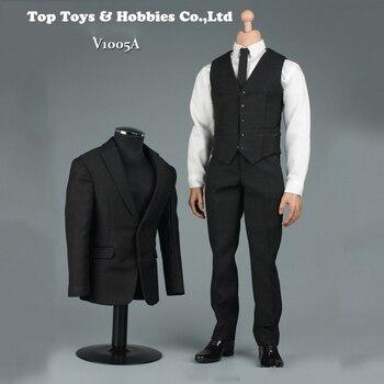b1bf9f0b 1/6 Negro hombres Caballero traje de ropa conjunto F/12