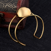 IJB0513 NEW Cremation Bangle PVD Plated 316L Stainless Steel Double Wire Bangle With A Big Ball