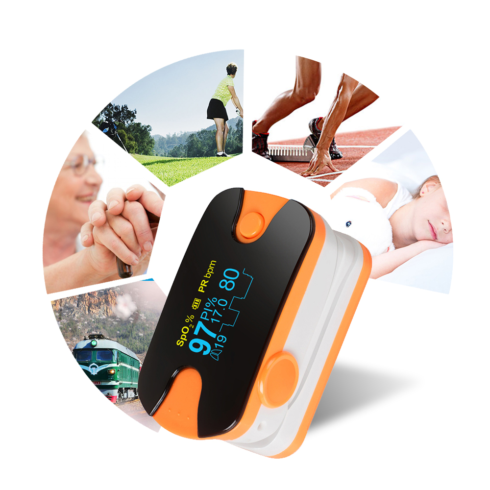 Color OLED Finger Pulse Oximeter 4 Parameter SPO2 PR PI Respiration Rate Monitor Portable Orange 200187 Blood PressureColor OLED Finger Pulse Oximeter 4 Parameter SPO2 PR PI Respiration Rate Monitor Portable Orange 200187 Blood Pressure