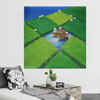 Hand painted Canvas Oil Paintings Vietnam Scenery Abstract Modern Home Decoration Wall Art Picture Ornaments Painting