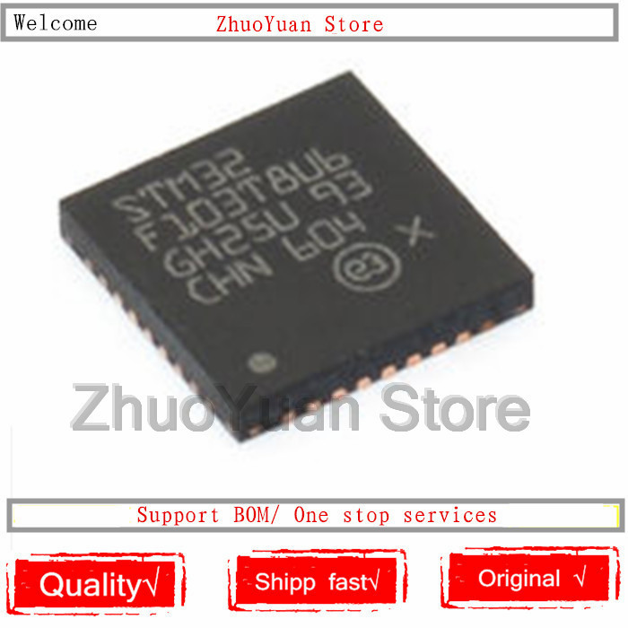10PCS/lot New Original STM32F103T8U6 STM32 F103T8U6 VFQFPN36 IC Chip