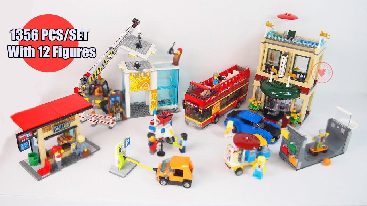 NewCapital City Center Kids Car fit legoings city figures technic bricks Building Blocks diy Toys Children 60200 kid gift xmas