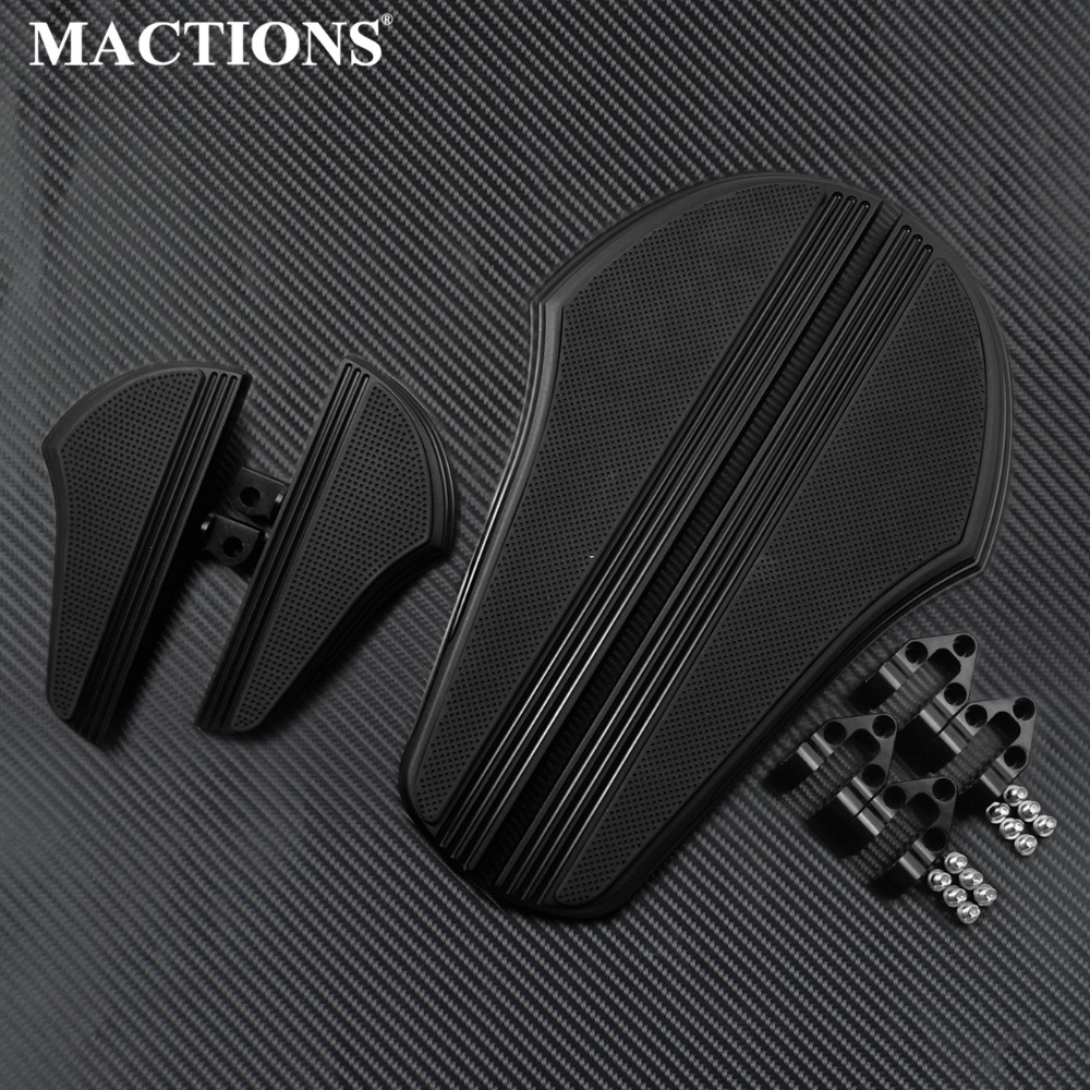 Motorcycle Defiance Rider Driver Footboards Floorboard For Harley Touring Street Glide FLHX FLHR Dyna Softail Passenger
