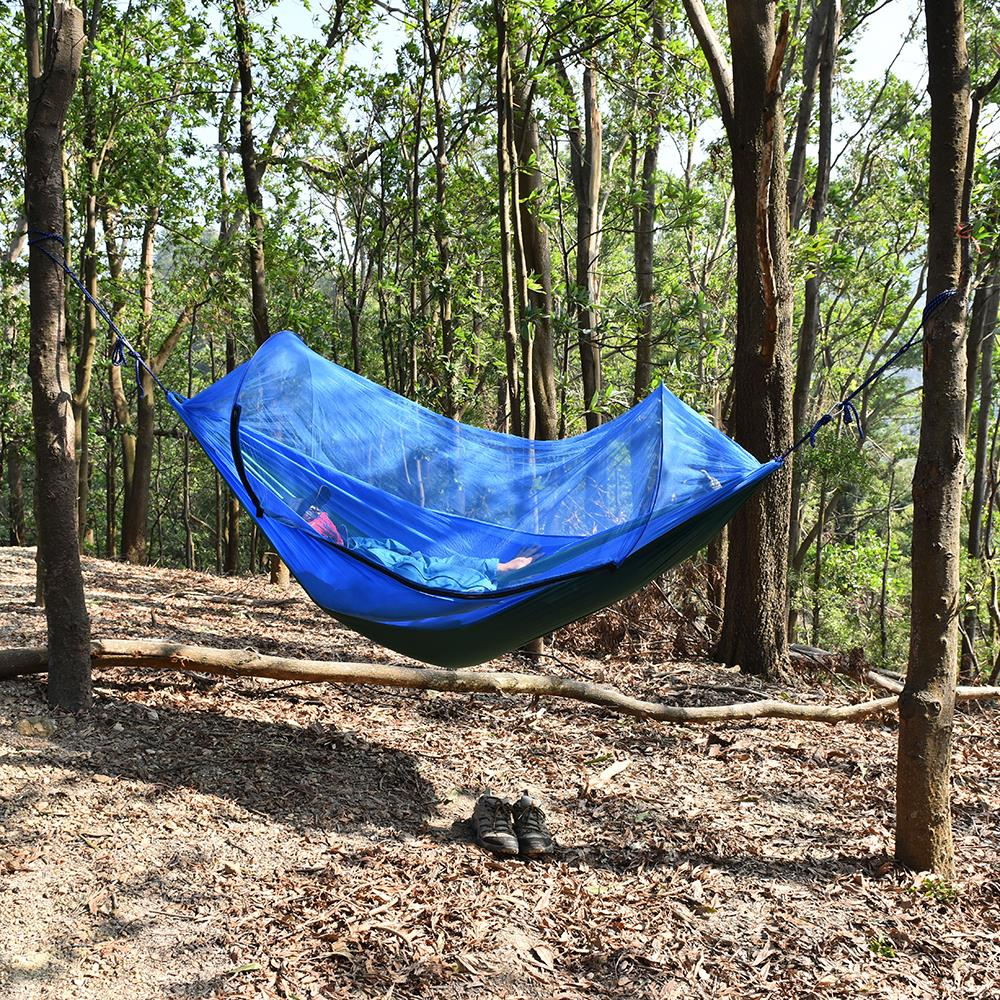 Image 3 - Outdoor Camping Hammock with Mesh Mosquito Bug Net Hanging Swing Sleeping Bed Tree Tent Outdoor Tools-in Outdoor Tools from Sports & Entertainment