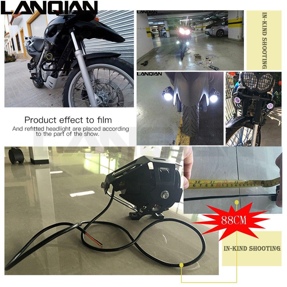 2PCS Universal Motosiklet Sürücü Ləkə Başlıq Lampa Duman - Motosiklet aksesuarları və ehtiyat hissələri - Fotoqrafiya 4