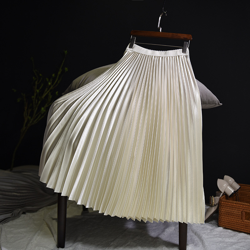 Sherhure 2018 Spring Women Long Skirts Fashion Brand A-Line Women Pleated Skirts High Waist Women Midi Skirt Faldas Mujer Saias 15