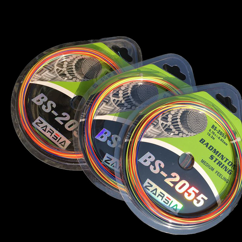 (3 Pecs/lot) Max 27 Lbs ZARSIA BS-2055 Rainbow Badminton Strings,training Badminton String,badminton Racket Strings