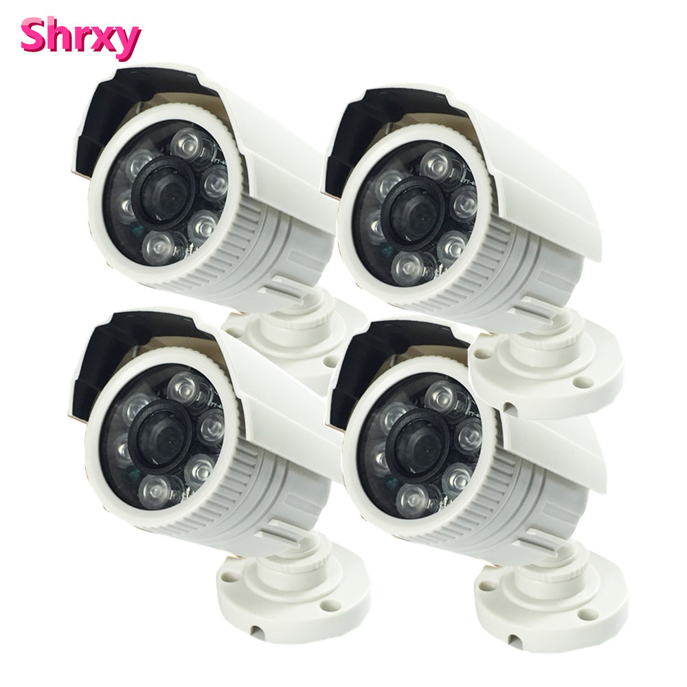 4pcs CMOS IR CUT Filter CCTV Camera Video Surveillance Infrared Day Night Indoor Security Camera 1200tvl  lot free shipping sony ccd cctv camera 1200tvl ir cut filter security ir dome camera indoor home security night vision video camera