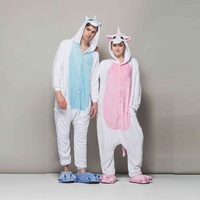 kigurumi long sleeve hooded unicorn pajamas Flannel warm unicornio animal pijama for adult Pyjama Licorne