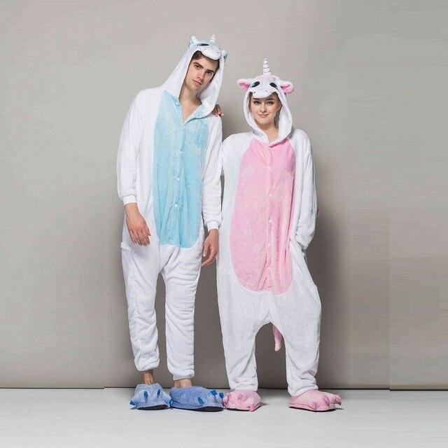 15574c912c kigurumi long sleeve hooded unicorn pajamas Flannel warm unicornio animal  pijama for adult Pyjama Licorne
