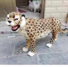 Simulation leopard polyethylene&furs leopard model funny gift about 110cmx75cm
