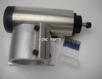 CNC milling spindle  ER11 air cooling 1.5KW spindle+10 pieces cnc engraving bits+1 piece spindle support