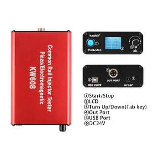 Image 5 - Free shipping and big sale! Kw608 Multifunction Diesel Common Rail Injector Tester Piezo Injector Tester Usb Injector Tester