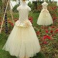Новое прибытие девушки 2017 топ дизайнер дети одежда платья для девочек 10 12 свадебный цветок девушки длинные платья