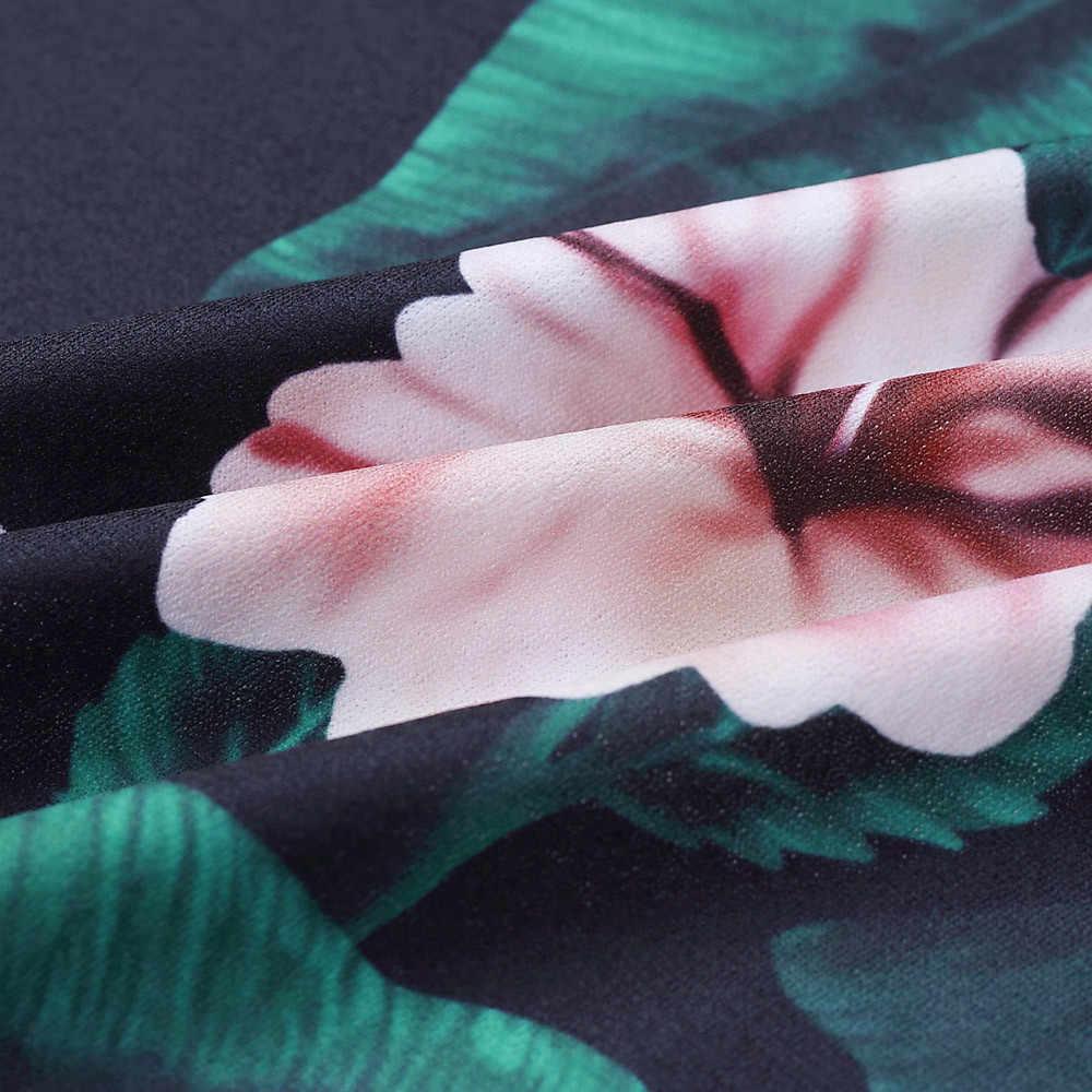 V шеи ремень комбинезон Для женщин с открытой спиной с цветочным принтом длинные пляжные макси летний комбинезон в богемном стиле без рукавов Элегантный boho комбинезоны #3