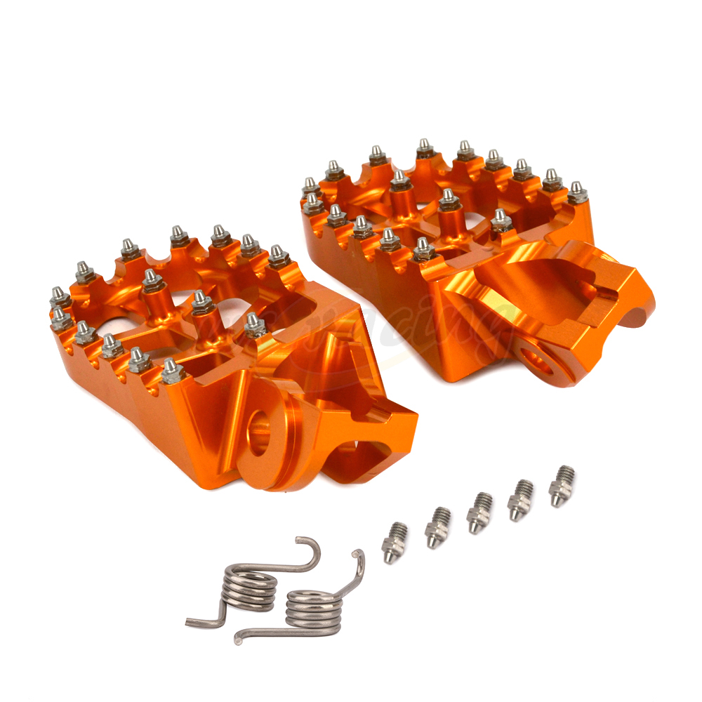 2018 Motorcycle Aluminum FootRest pegs Pedals For KTM SX SX F EXC EXCF XC XCF XCW