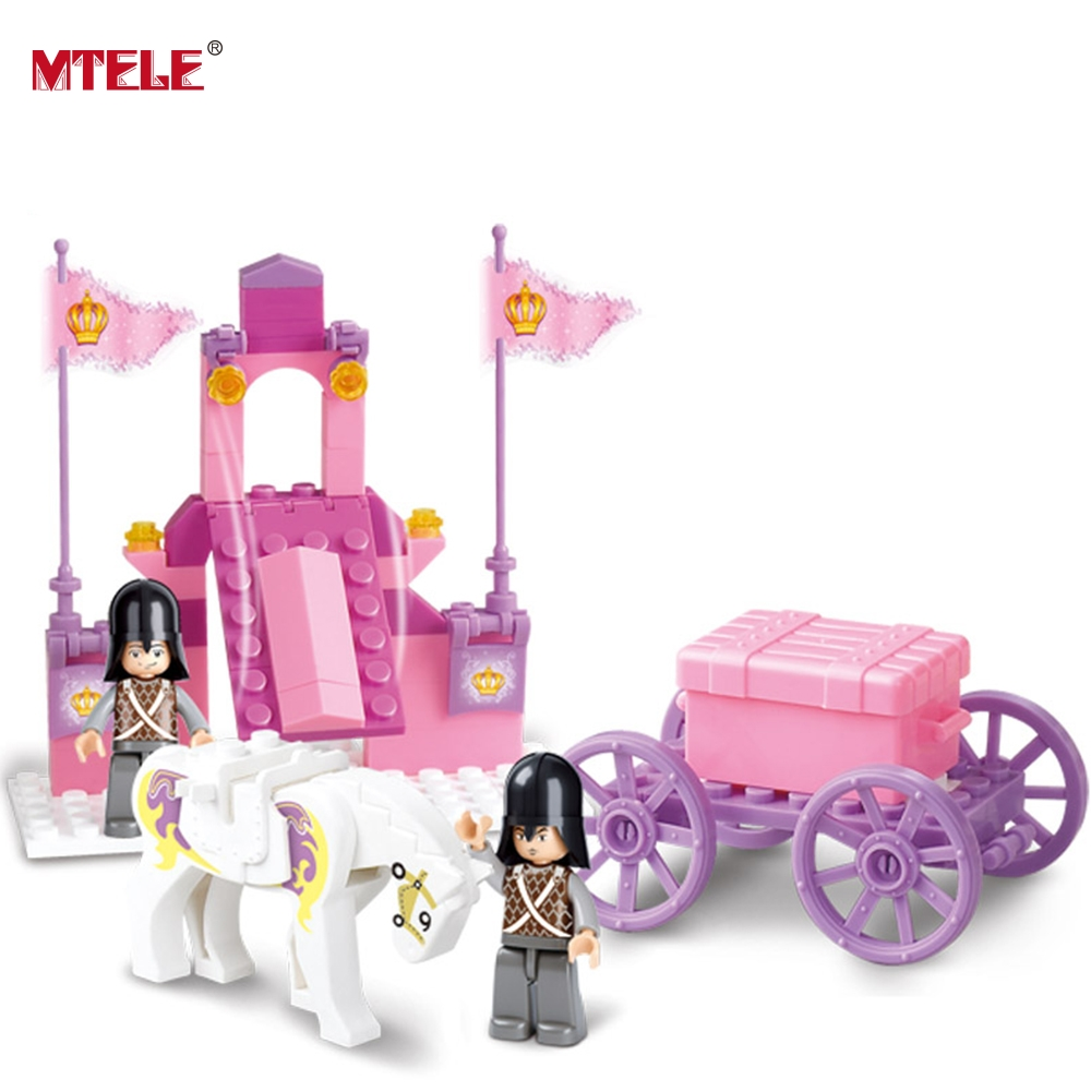 Sluban Building Friends Series Blocks for Girls Toy Royal Princess Carriage Wagon Compatible with any Blocks