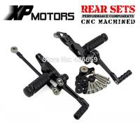 Motorcycle Black CNC Racing Foot Pedals Pegs Rear Sets For Ducati StreetFighter 848 2011 2012 2013 2014