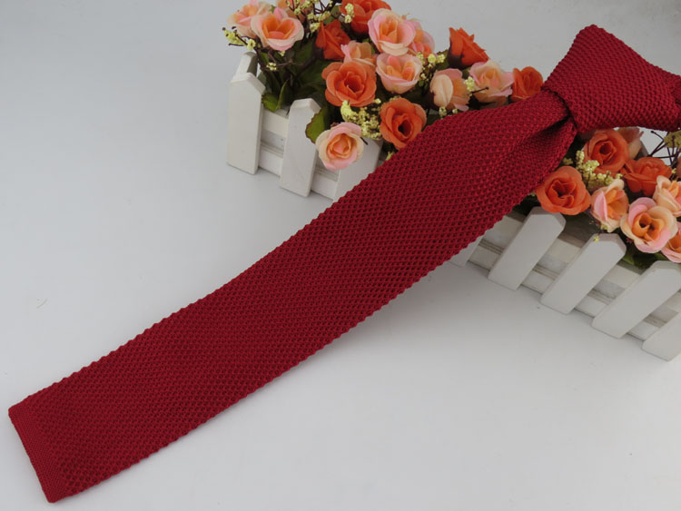 Single color knit tie with more color selection universal matching retro style Retro Tie free shipping
