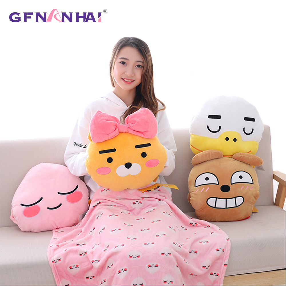 Hand warmer cushion blanket