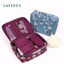 Fashion High Quality Travel Cosmetic Makeup Toiletry Case Bag Wash Organizer Storage Pouch Handbag  Drop Shipping Aug18