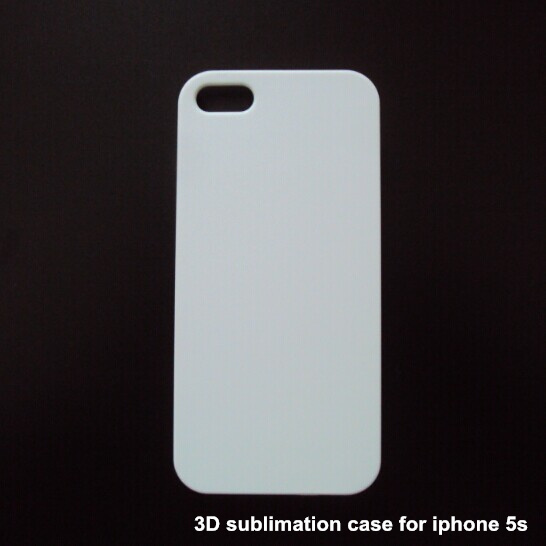 ccd67642d 3D Sublimation Heat Transfer Plastic Blank White Cell Phone Cases for iphone  5 5s 100pcs/lot free DHL shipping