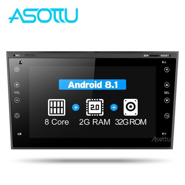 2G + 32G 8 core Asottu COB7060 Android 8,1 para OPEL Astra H Meriva Antara Zafira Veda Agila corsa Vectra de dvd del coche de navegación gps