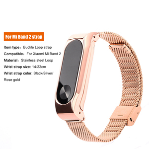 Image 2 - Stainless Steel For Xiaomi mi band 4 3 2 strap Metal Wristband For Mi band 4 Bracelet Accessories Miband 4 NFC Global wristbands
