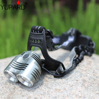 YUPARD 2* XM L2 led Aluminum alloy Headlamp bright Torch headlight Flashlight 3 Modes super T6 LED camping fishing outdoor